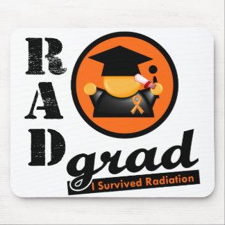 Radiation Grad KIDNEY CANCER Orange Ribbon Mouse Mat