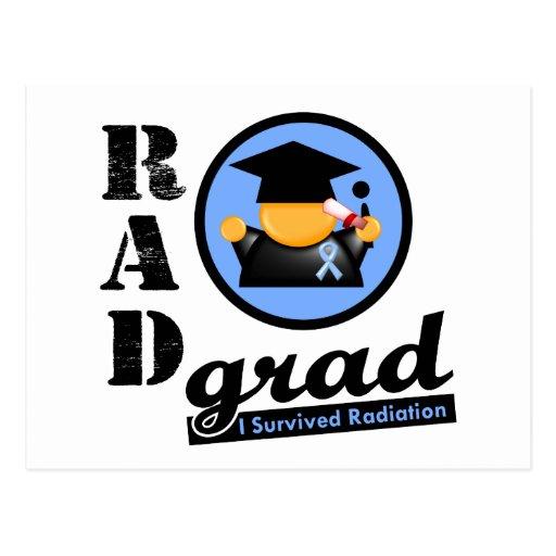 Radiation Grad PROSTATE CANCER Postcard