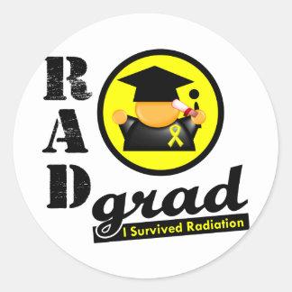 Radiation Grad SARCOMA Classic Round Sticker