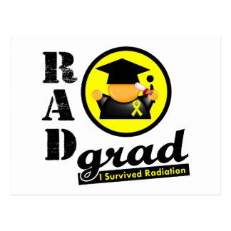 Radiation Grad TESTICULAR CANCER Postcard