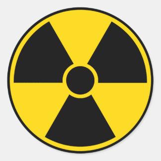 Radiation Hazard Sign Classic Round Sticker
