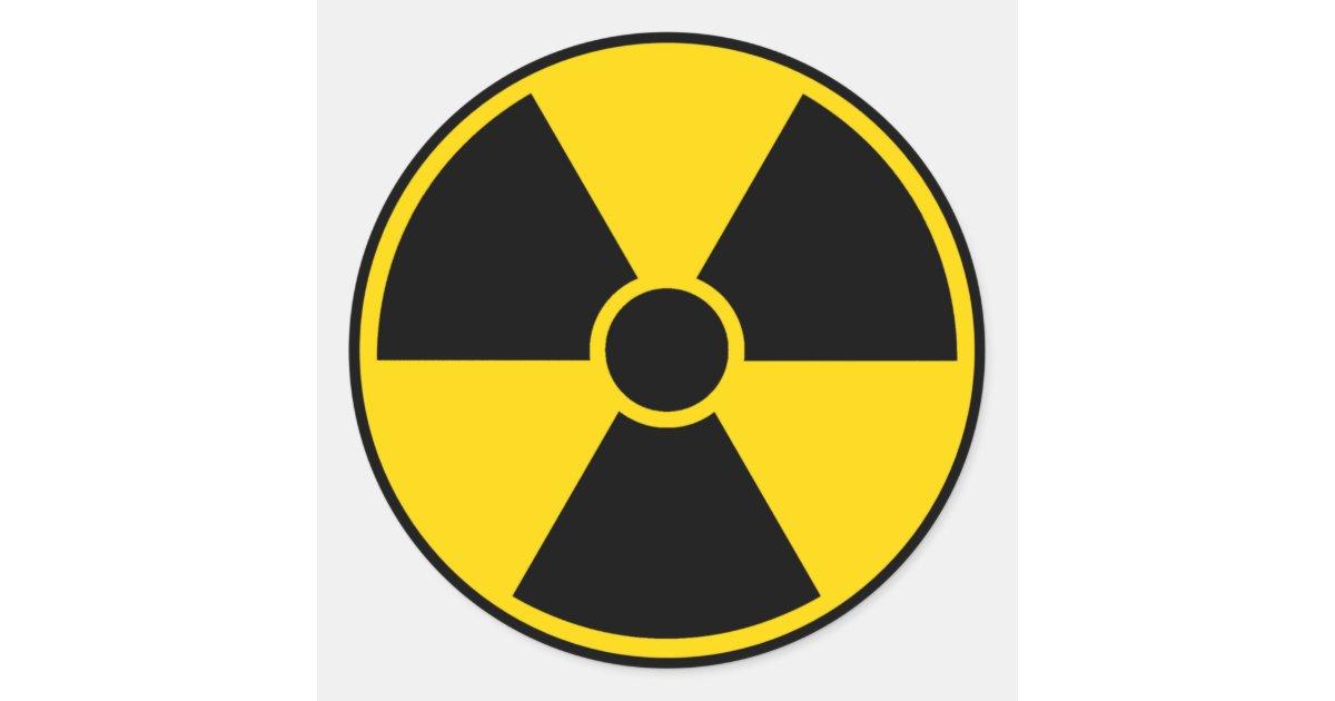 Radiation Hazard Sign Classic Round Sticker Zazzle