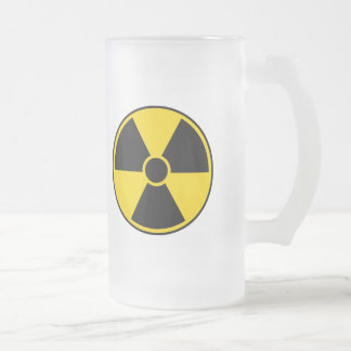 Radiation Hazard Sign Frosted Glass Beer Mug