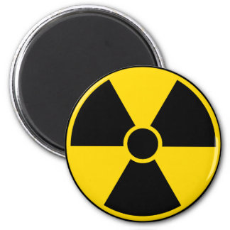 Radiation Hazard Sign Magnet