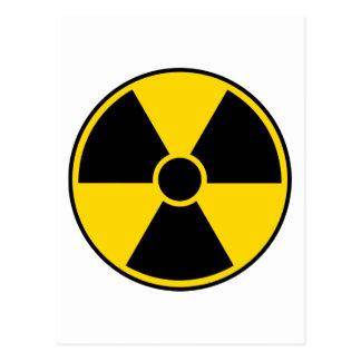 Radiation Hazard Sign Postcard