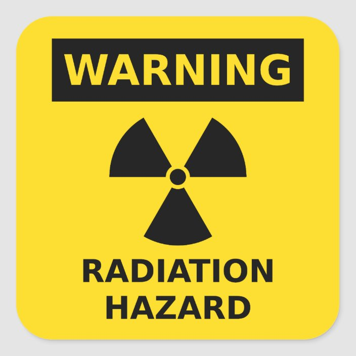 """Nuclear Radiation Warning Toxic Radiation Sign Sticker Decal 2 Pack of 2/"""""""
