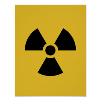 Radiation Hazard Symbol Poster