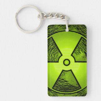 radiation keychain acrylic key chain