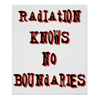 Radiation Knows No Boundaries Anti-Nuclear Poster