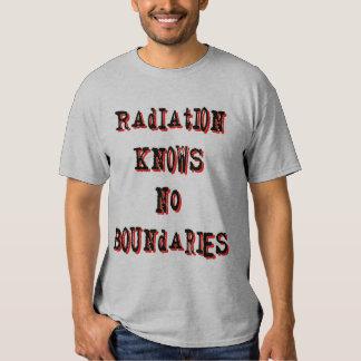 Radiation Knows No Boundaries Anti-Nuclear T-shirt