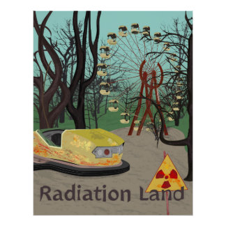 Radiation Land Theme Park Style Poster