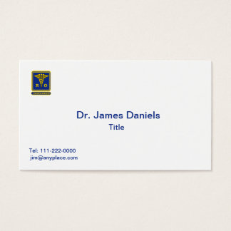 Radiation Oncologist Caduceus Shield Business Card
