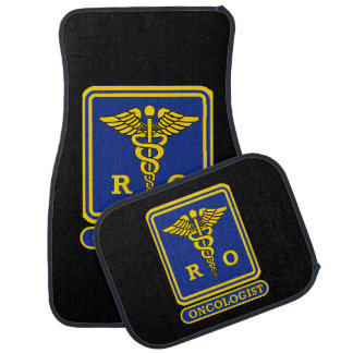 Radiation Oncologist Caduceus Shield Car Floor Mat
