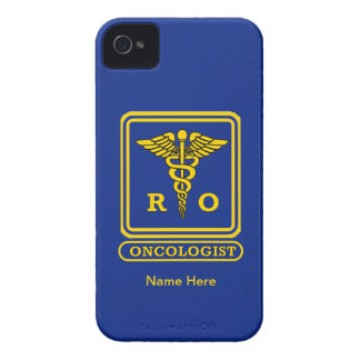 Radiation Oncologist Caduceus Shield iPhone 4 Case-Mate Cases