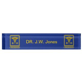 Radiation Oncologist Caduceus Shield Desk Name Plate