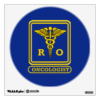 Radiation Oncologist Caduceus Shield Wall Sticker