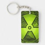 radiation puzzle acrylic key chains