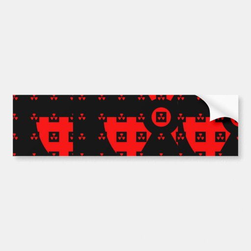 radiation red car bumper sticker