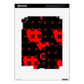 radiation red iPad 3 skins