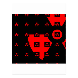 radiation red postcard