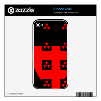 radiation red skin for iPhone 4S