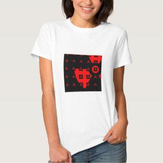 radiation red tee shirt