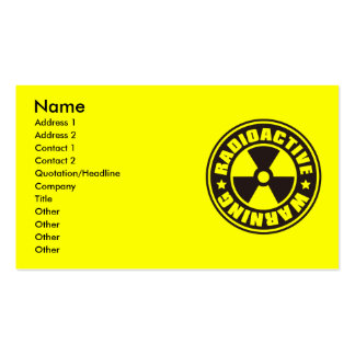 Radiation_S Business Card