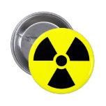 Radiation Sign 2 Inch Round Button