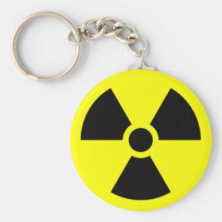 Radiation Sign Basic Round Button Keychain