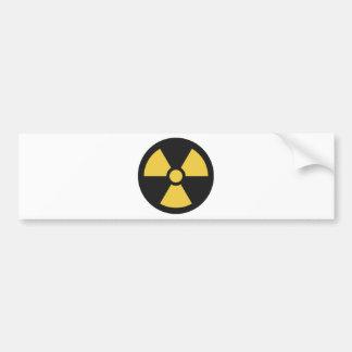 Radiation Sign Bumper Sticker