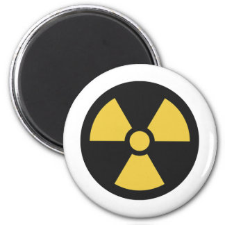 Radiation Sign Magnet