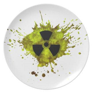 Radiation Splat - Radioactive Waste Melamine Plate
