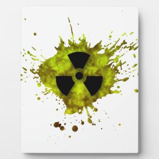 Radiation Splat - Radioactive Waste Plaque