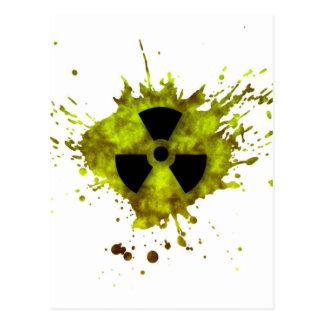 Radiation Splat - Radioactive Waste Postcard