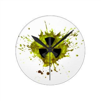Radiation Splat - Radioactive Waste Round Clock