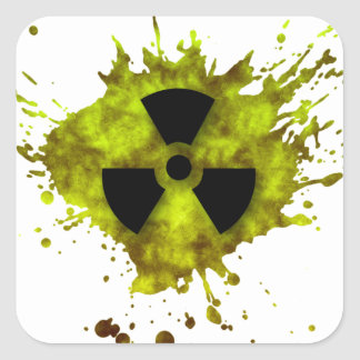 Radiation Splat - Radioactive Waste Square Sticker