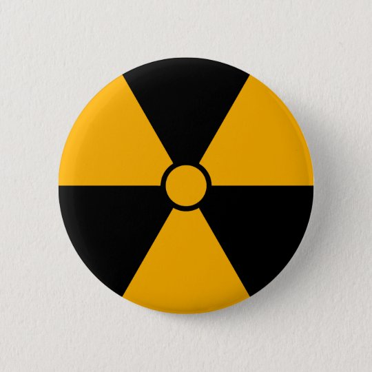 Radiation Symbol Button