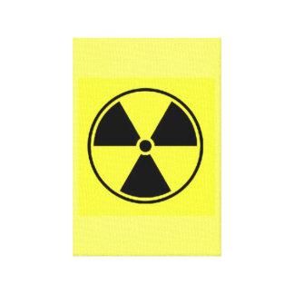 Radiation Symbol Canvas Print