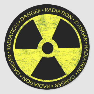 Radiation Symbol Classic Round Sticker