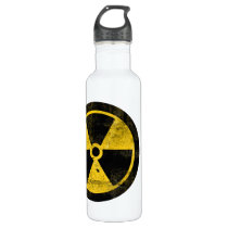 Radiation Symbol, Drink at Your Own Risk Water Stainless Steel Water Bottle
