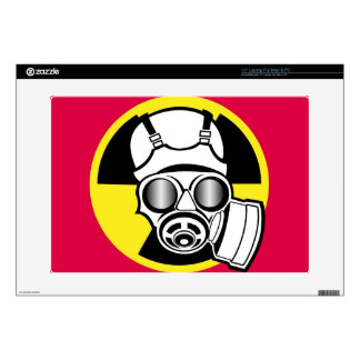 Radiation Symbol Gas Mask Decals For Laptops