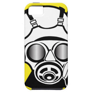 Radiation Symbol Gas Mask iPhone 5 Covers