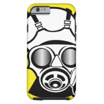 Radiation Symbol Gas Mask Tough iPhone 6 Case