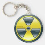 radiation symbol key chain