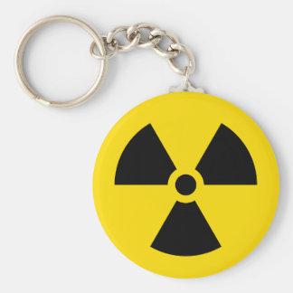 radiation symbol keychains