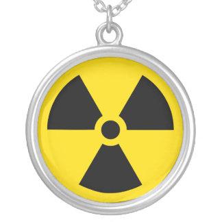 Radiation symbol necklace