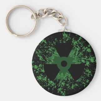 Radiation Symbol Splat Key Chain