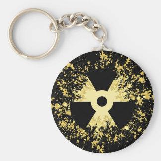 Radiation Symbol Splat Key Chains