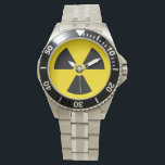 """Radiation symbol watch<br><div class=""""desc"""">Watch featuring the classic yellow and black radiation warning symbol.</div>"""
