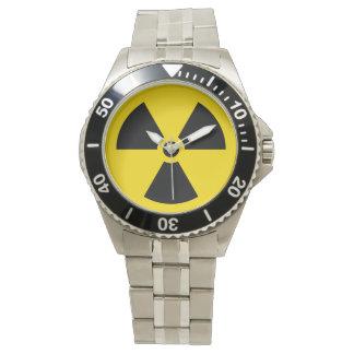 Radiation symbol wristwatch